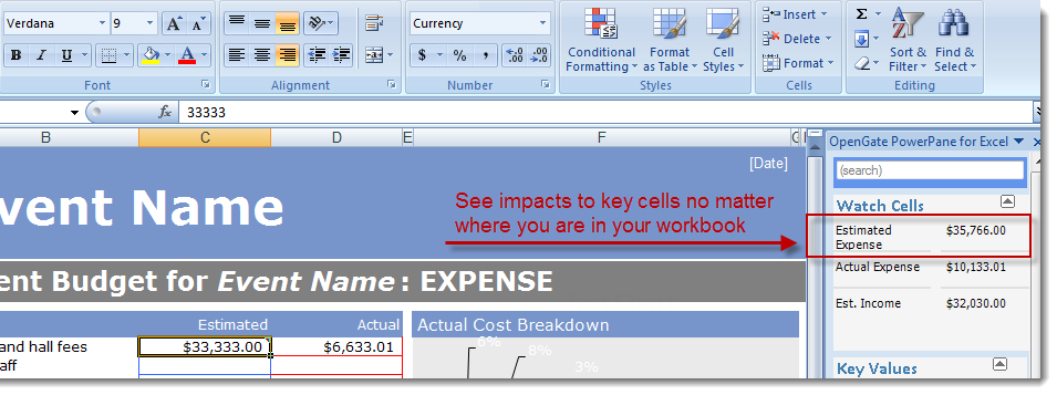 Microsoft Excel Watch Cell